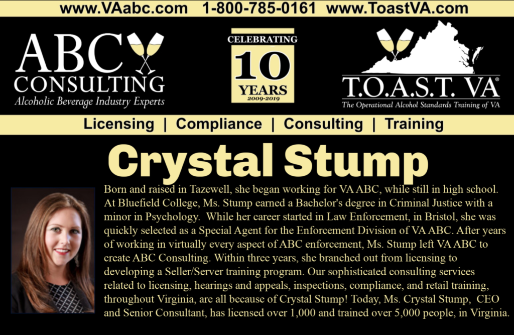 Crystal Stump of ABC Consulting