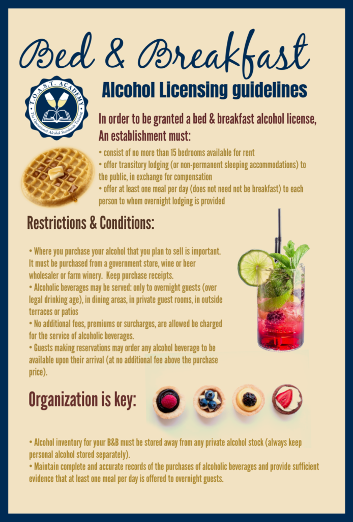 B&Bs and serving alcohol -- legally