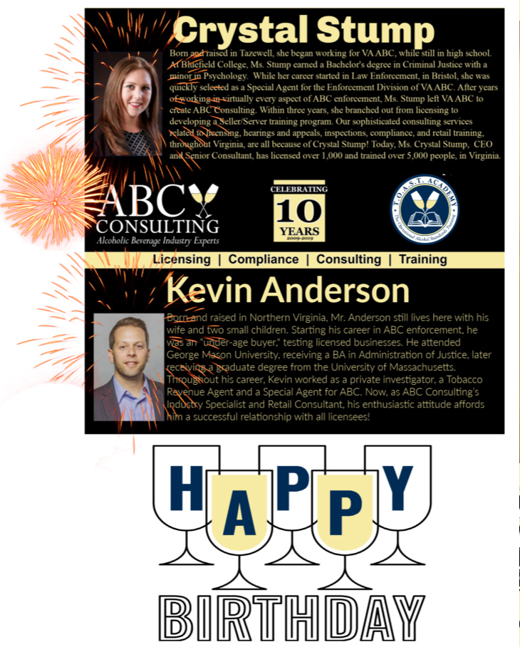 Shared Birthday: Crystal Stump & Kevin of Anderson ABC Consulting
